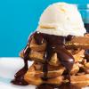 Receita de waffle com creme de chocolate, café e uísque. <3