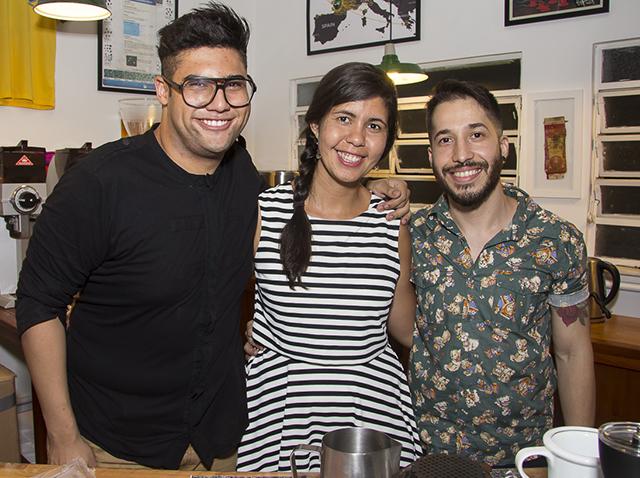João Perez, Simone de Assis e Edgar Martins.