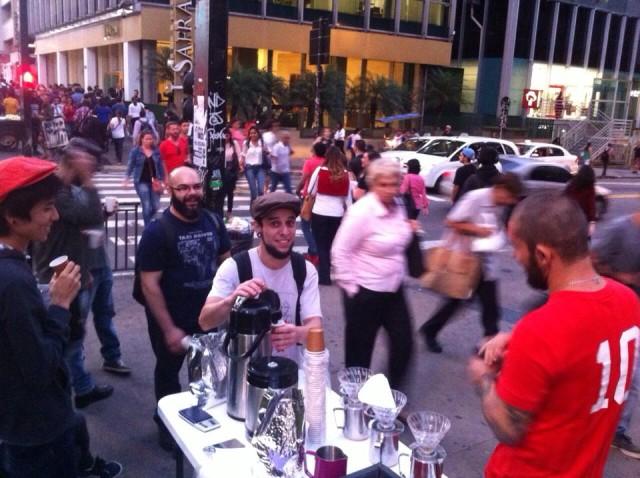 baristas na rua