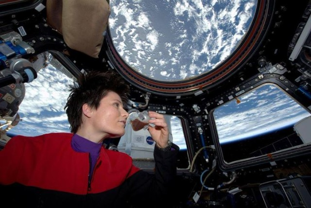 first espresso brewed in space_international space station