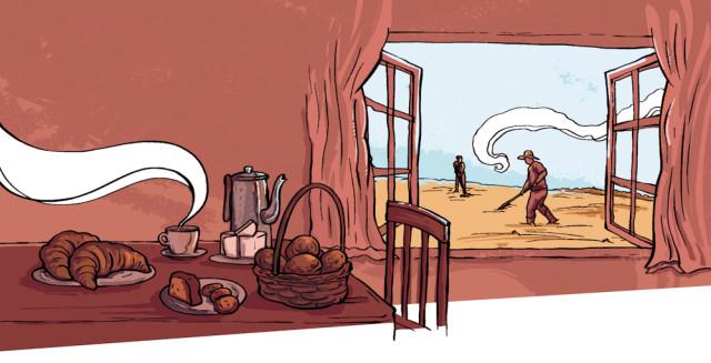 ilustração coluna barística