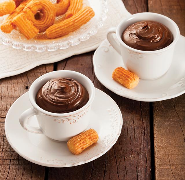cremoso de chocolate e café